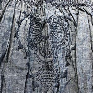 GAP Shirts & Tops - NWT GAP denim embroidered strap top 3T